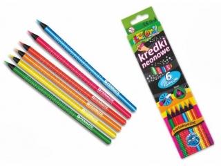 Penmate Kolori Premium Kredki trójkątne neonowe 6 kolorów +